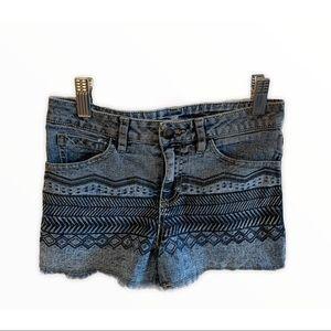 Love Rocks Ombre Jean Shorts